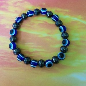Jewelry - Evil eye magnetic hematite bracelet